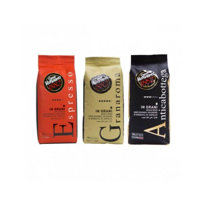 Caffè Vergnano 1882 - koffiebonen - proefpakket - 3 x 1 kg